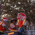 Scouts from Troop 682 helping direct traffic at the annual Christmas in the Park at Old Poway Park.