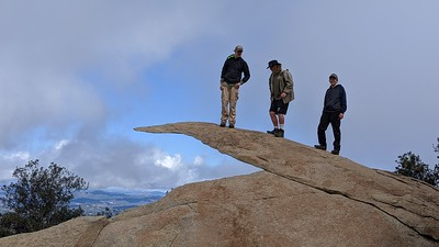 Philmont prep hike, up the beautiful north side of Mt. Woodson.